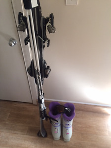 Set of Downhill Nordica Skis, Poles and Boots