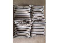 Matching Set of 4 designer Living room cushions.