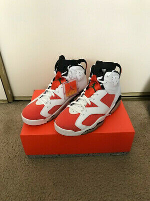 Air Jordan VI 6 Gatorade Orange and White Like Mike mens Size 9.5 - no lace lock