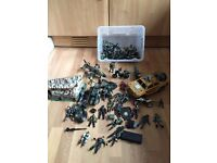 Box Full Of Combat Figures, Vehicles, Motorbokes, Aerplanes, Boats & Lots More!