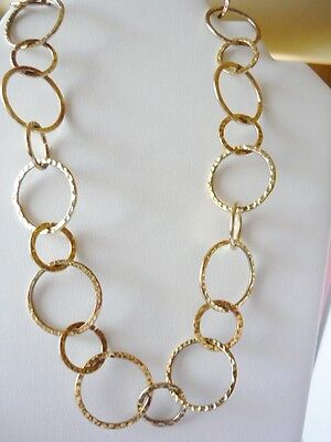 Vintage Goldtone Circle Necklace on Rummage
