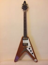 REDUCED PRICE - Epiphone Flying V Korina 1958 replica