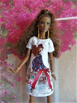 Vêtements poupées Barbie, Fashion Royalty, Poppy Parker, robe courte motif girly
