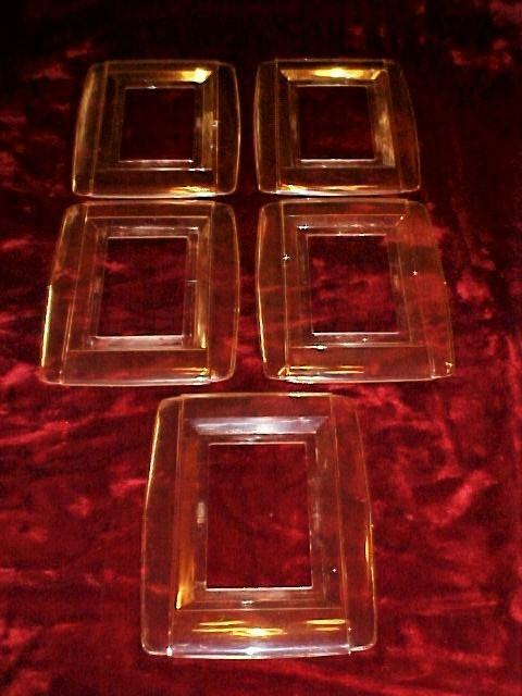 Lot or 5 Vintage Art Deco Clear SNAPIT Switch/Receptacle Cover Plates