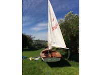 Miracle Dinghy 2551. Ideal for crusing pottering racing and children