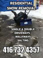 Residential Snow Removal and Salting, Driveways & Walkways.