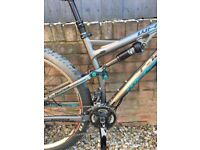Whyte T-129 Works 2014 29er Full Suspension Mountain Bike. £2599 RRP. Medium Frame.