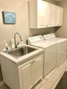 LAUNDRY ROOM CABINETS, COUNTER & STAINLESS SINK