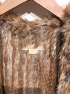 Micheal Kors, real FUR VEST with a hood