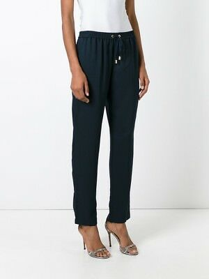 Black Straight Leg Trousers - NWT Michael Kors Womens drawstring black straight leg trousers casual pants XS