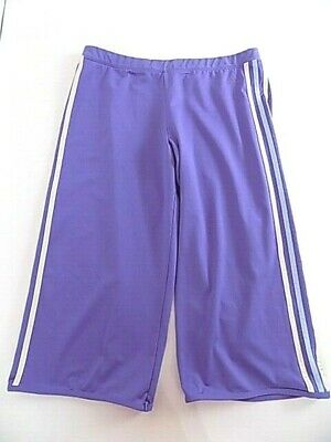 Adidas Women Purple Poly Spandex work-out warm-up Capri Pants Climalite XL