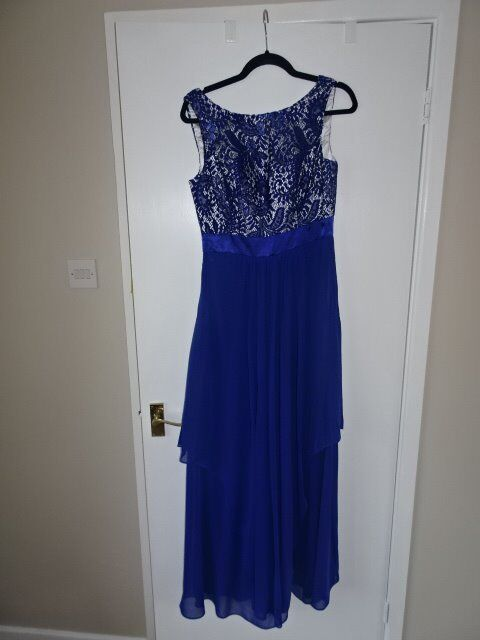 2x Blue Ladies Prom /Bridesmaid dresses size 10 and 12