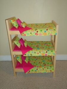 """Solid Wood Doll Bunk Beds and other furniture for 18"""" dolls"""