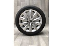 """Genuine 17"""" Volkswagen Alloys and Tyres. Suit Audi, Seat & VW 5x112"""