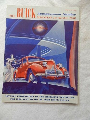 The Buick Magazine(October 1938) with 1939 Full Line Brochure