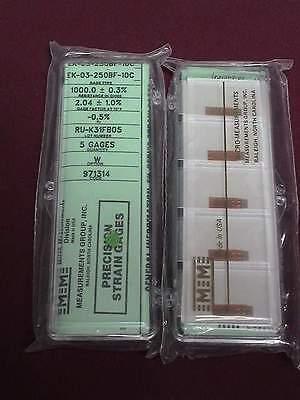 Vishay Micro Measurements Precision Strain Gage Ek-03-250bf-10c Option W 5 Pack