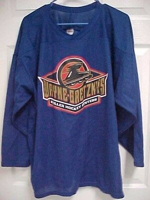WAYNE GRETZKY'S Roller Hockey Center 3/4 Sleeve Men Blue Hockey Jersey L CCM New ()