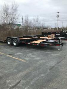2018 Brimar TG20-15, 20' Split Deck Tilt Trailer