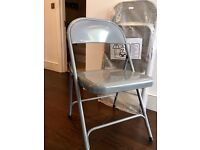 BRAND NEW!! - Set of 4 Habitat MACADAM folding grey chairs in their plastic covers