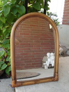 ~ JUST REDUCED THE PRICE~ SELLING UNIQUE BAMBOO MIRROR ~ $29.99~