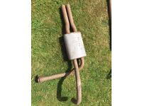 MK 1 CAPRI 3000 EXHAUST TWIN REAR BACK BOX - NEVER BEEN ON A CAR - £60