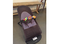 Baby Bjorn bouncer with wooden play bar