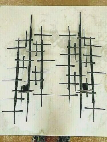 Pair Mid Century Modern Wall Sconce