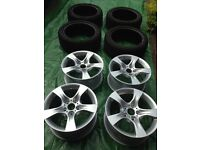 Original BMW Wheels (AS NEW) and Winter Tyres Set for 3 Series (BMW Star Spoke 339)