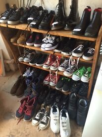 Big selection of children's shoes, football boots + trainers-various brands, some unworn, sizes 2-4