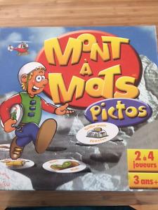 Jeux Mont à Mots pictos  3+
