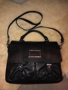 Marc Jacobs black leather purse with silver hardware