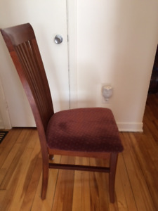 4 Chairs and Walnut dinning table