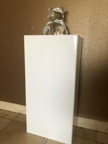 DS-Acrylic Art Sculpture Stand Pedestal Display White 16W x 9D x 32H
