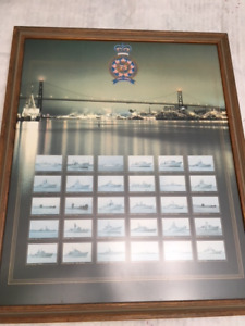 "Canadian Navy Marine  1910- 1985 Celebrating 75 years 24"" x 19"""