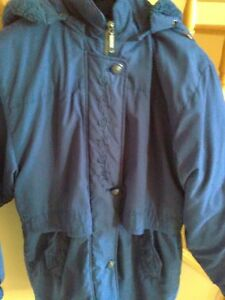 Women's Stoney Creek navy blue embroidered parka jacket London Ontario image 2