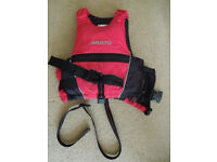 Buoyancy aid - Musto. Red/black. suitable for young child