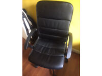Supportive leather adjustable IKEA office chair with back support