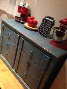 Teak Wood Dresser/Sideboard/Buffet With Drawers