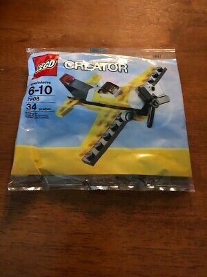 Lego 7808 Creator Yellow Airplane (Brand New)
