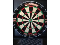'Winmau' Dart Board and cabinet