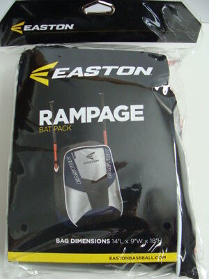 NEW EASTON Rampage Backpack Bat Bag Tote Baseball Softball 2 Bats Blue Pack NIP