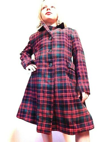 Vintage Glenconner  Best & Co England Made Wool Plaid Tartan Winter Coat Girls 7