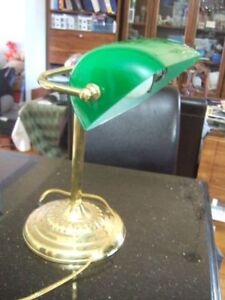 vintage Bankers Lamp Green Shade Desk Table Office lamp,7900
