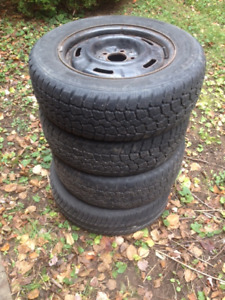 "15"" winter tires on rims (5x114.3) - NissanMaxima - fits many"