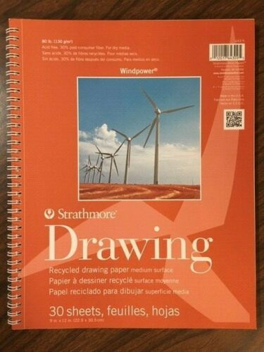 Strathmore Windpower Drawing 11x14  30 Sheets Spiral Bound
