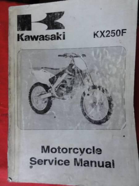 Kawasaki Kx250f Workshop Service Manual C2006 Motorcycle Scooter