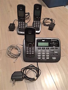Bell DECT 6.0 Cordless Phone + 3 Handsets + Answering System