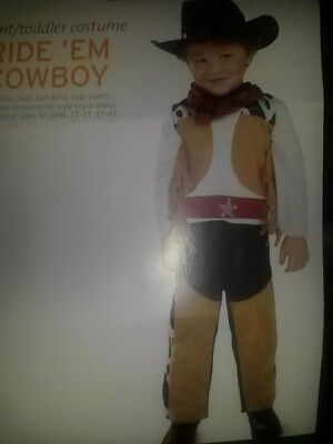 NEW BABY BOY RIDE EM COWBOY COSTUME SZ 12 24 MOS WESTERN - Baby Boy Cowboy Kostüm