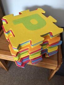 EVA Foam Alphabet Puzzle Floor Play Mats