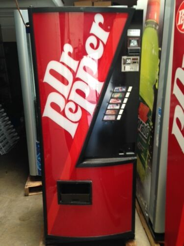 Dr Pepper Dixie Narco 240-6 Bubble Front Soda Vending Machine W/coin & $bill